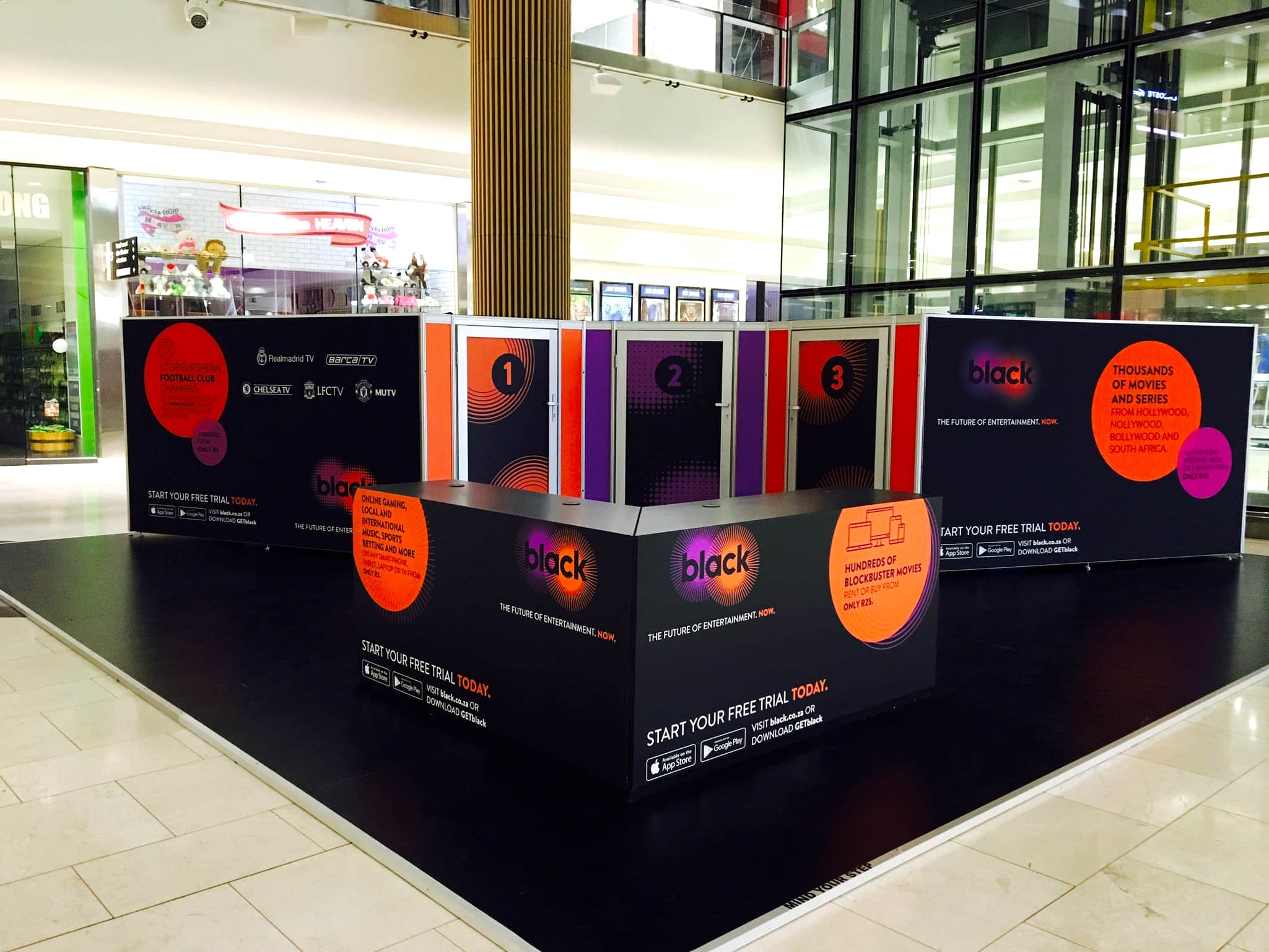 Mall Activations - Cell C Black