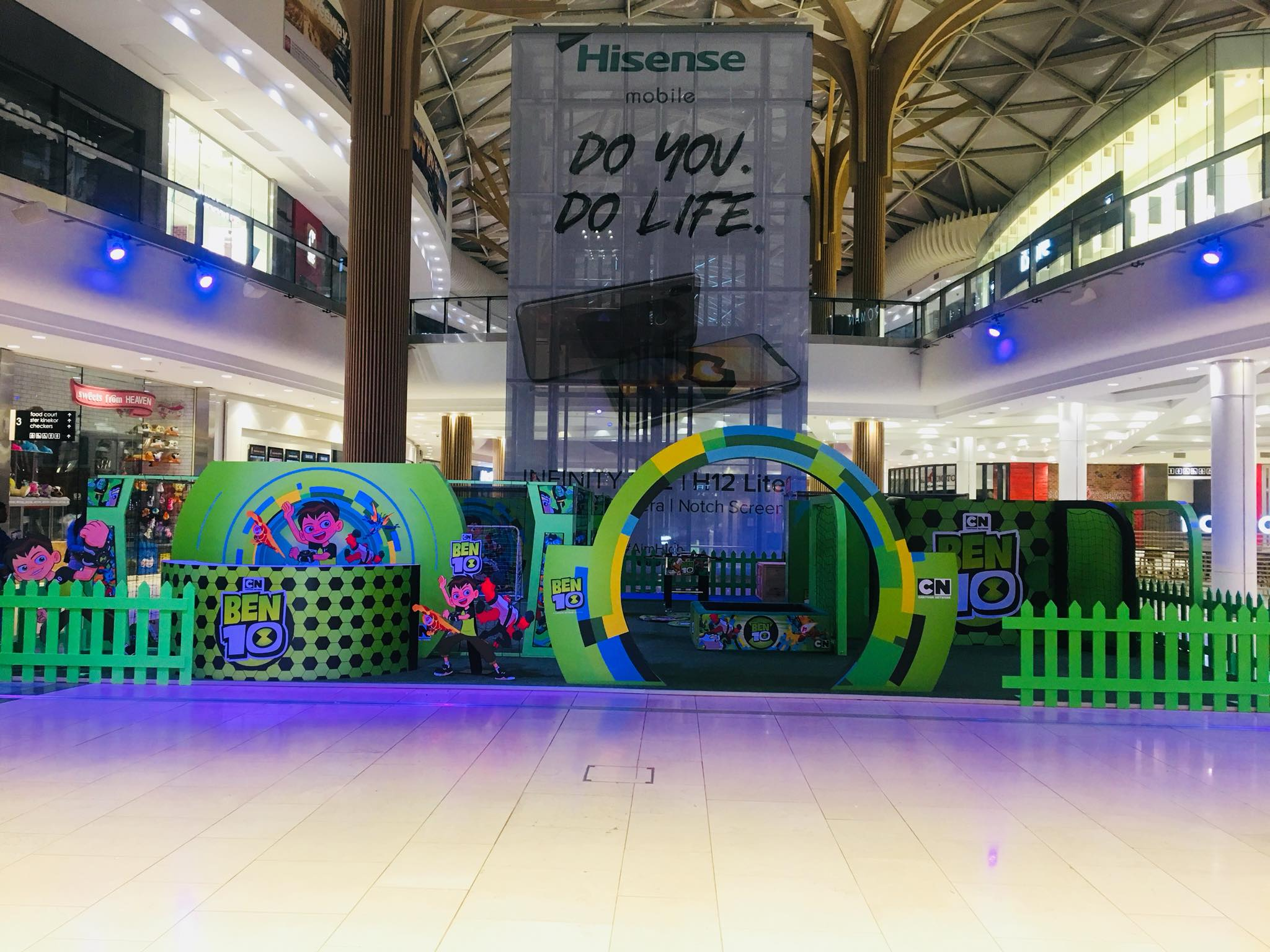 HDI Youth Consultancy for the second year, entrusted Umtunzi Exhibitions to design, manufacture and roll out the 2018 Ben 10 mall activations.