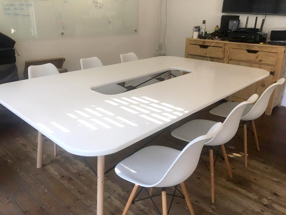 Design Furniture - White Conference Table