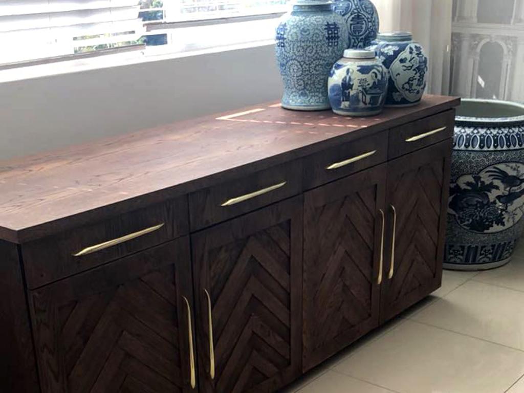 Design Furniture - Dark Wooden Cabinet